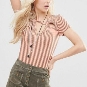 Free People Tops - Free people cut out tee